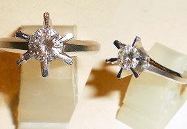 ダイヤモンド立て爪リング